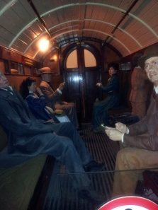 Night at the Museum in London - first class coach