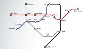Art in London Tube Maps - Simplified Tubemap