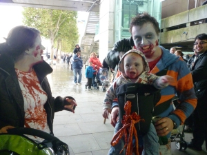 World Zombie Day in London - a happy family