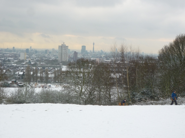 Snowy London - View from Parliament Hill