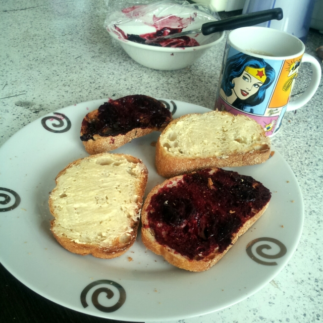 When Do You Do when You're Sick at Home? - Homemade damson Jam