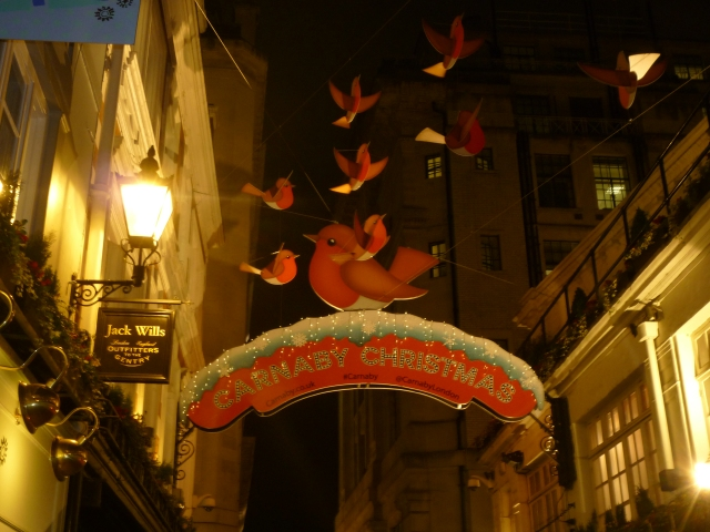 Christmas Lights and Decorations in London - Carnaby Street