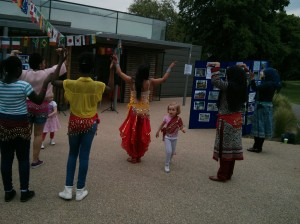 Community Festivals in London - Two tiny Bollywood dancers.