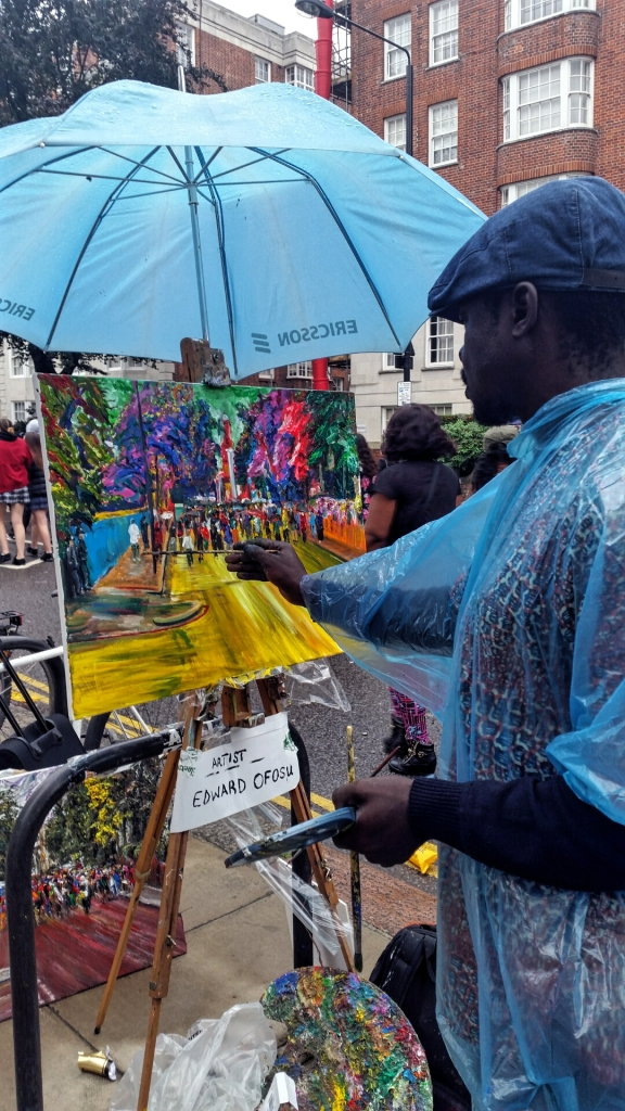 Picture Wednesday - An Artist at the Notting Hill Carnival